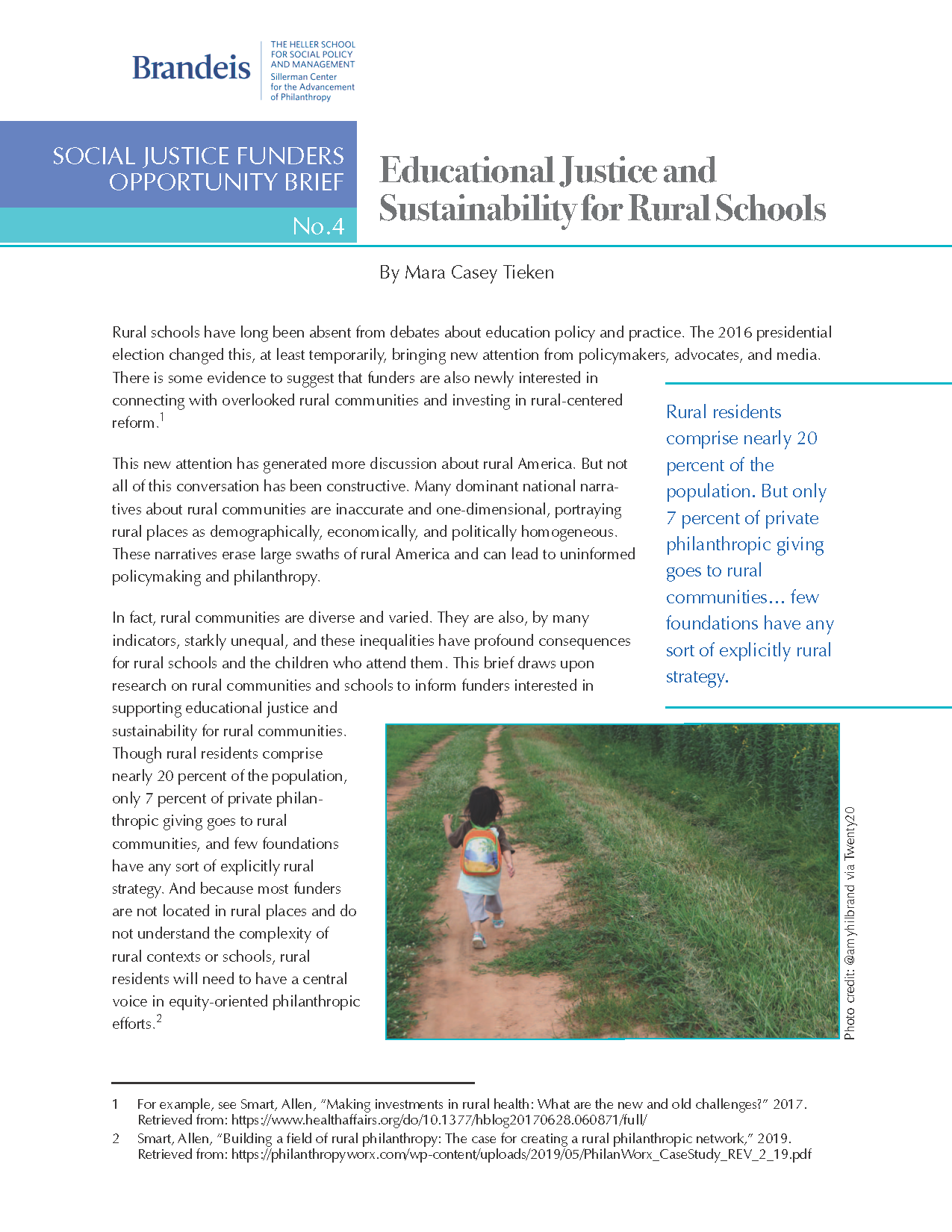 Educational Justice and Sustainability for Rural Schools