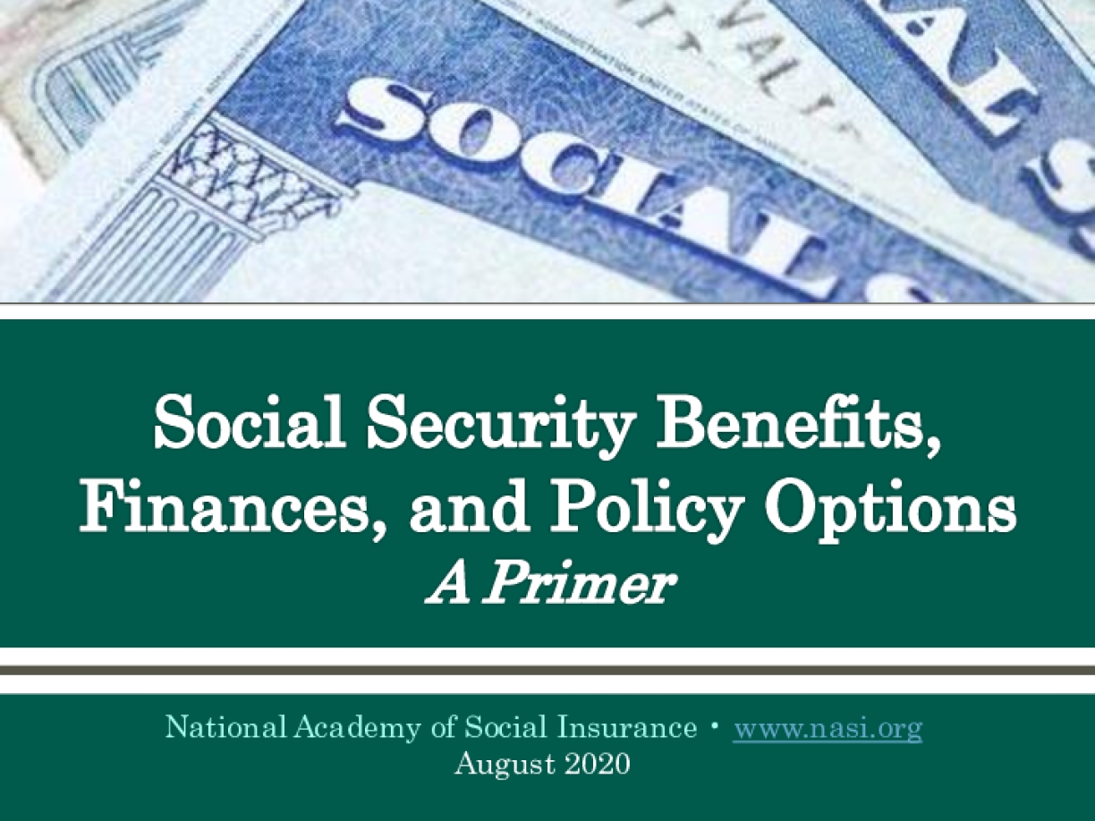Social Security Benefits, Finances, and Policy Options: A Primer