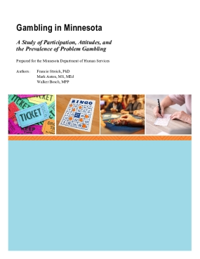 Gambling in Minnesota: A Study of Participation, Attitudes, and the Prevalence of Problem Gambling