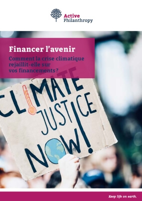 Funding the Future - How the climate crisis intersects with your giving - French version
