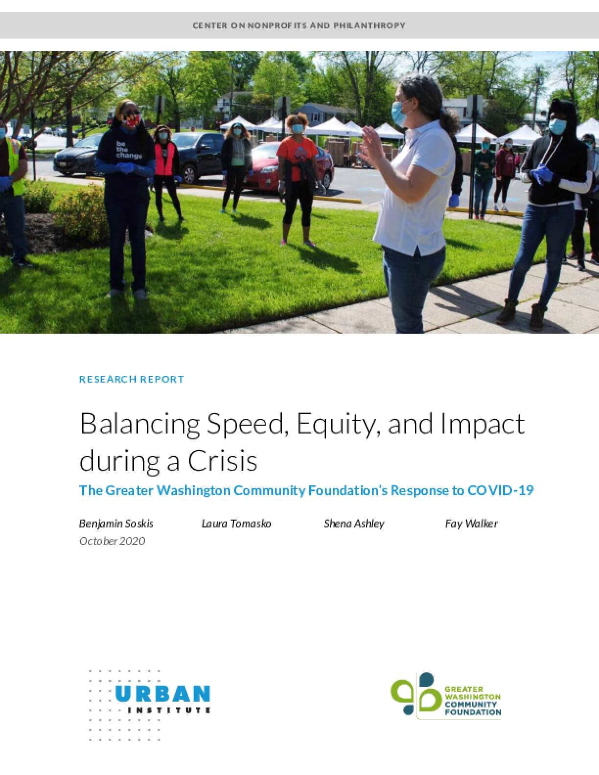 Balancing Speed, Equity, and Impact during a Crisis: The Greater Washington Community Foundation's Response to COVID-19
