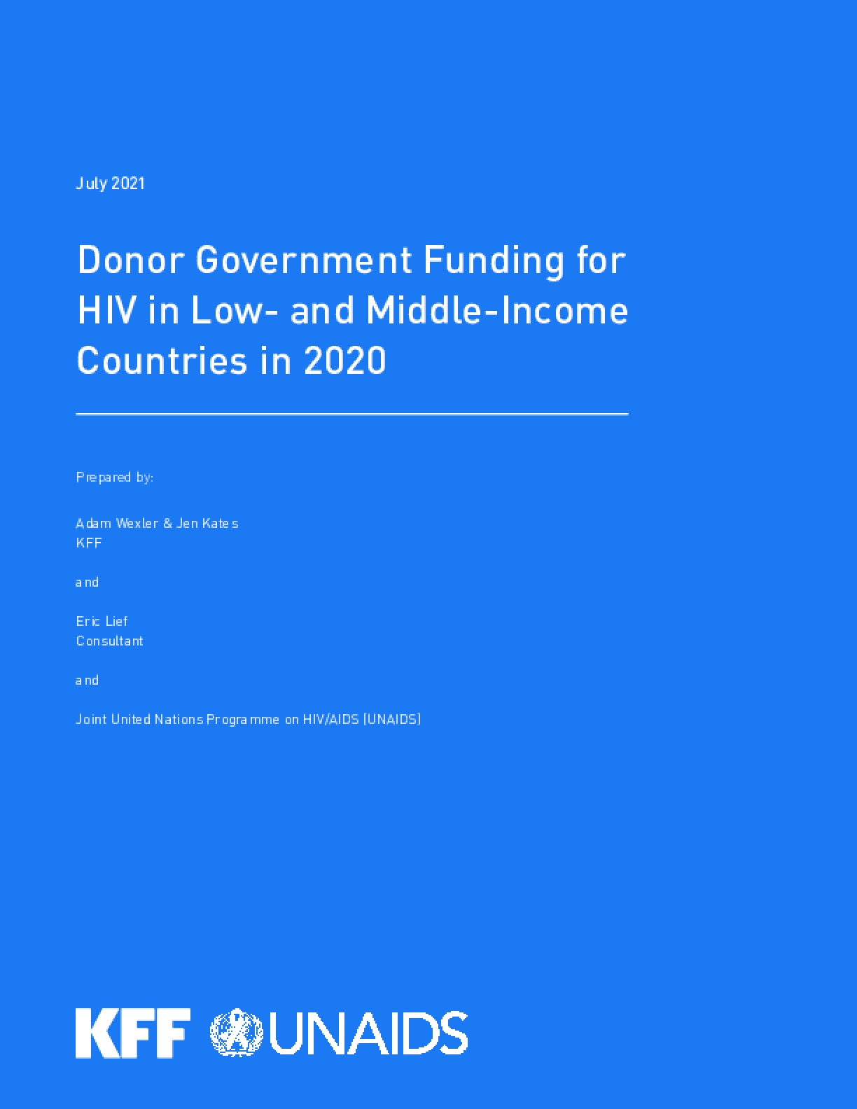 Donor Government Funding for HIV in Low- and Middle-Income Countries in 2020